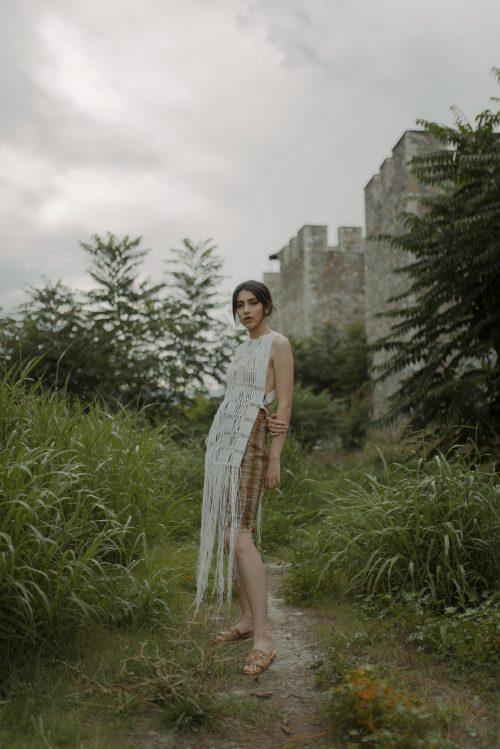 macrame dress front